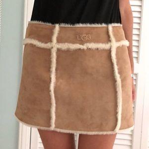 UGG mini fur skirt brown M